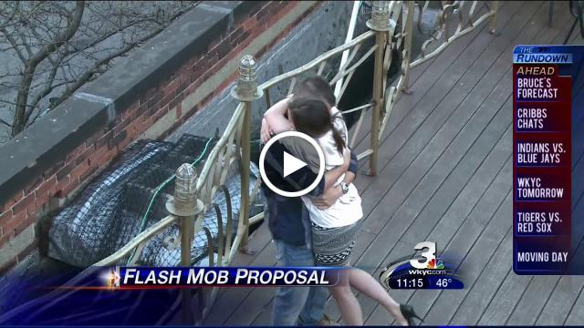 Flash Mob America Marriage Proposal